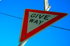 Free Give Way Royalty Free Stock Photos - 3029388