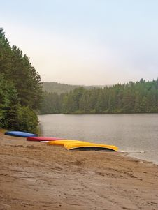 Canoes Stock Photography