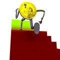 Free Dollar Coin Robot Running To The Top Illustration Stock Image - 30203121