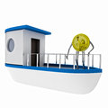 Free Dollar Coin Standing On The Boat Illustration Royalty Free Stock Photography - 30203127