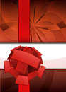 Free Red Floral Focus Point With Ribbon Text Place Vector Royalty Free Stock Image - 30203616