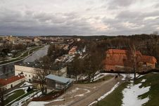 Vilnius Upper Castle In The Sunset Royalty Free Stock Photos