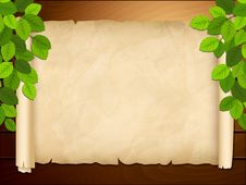 Free Old Paper On The Wooden Background Stock Photography - 30201022