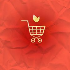 Free Sign Shopping Basket On A Red Background Royalty Free Stock Photography - 30202937
