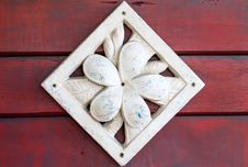 Stone Plumeria Craft Art Design For Spa Royalty Free Stock Images