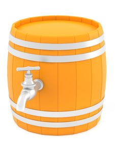Free Barrel With The Tap. Royalty Free Stock Photography - 30205097