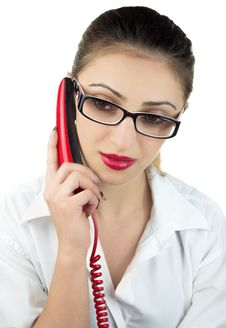 Free Calling Girl Stock Photography - 30207432
