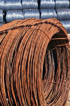 Coil Of Rusted Steel Wire Stock Image