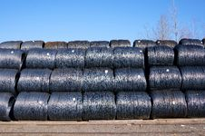Free Stacked Rows Of Coiled Steel Wire Stock Photography - 30208692