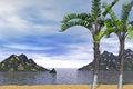 Free 3d Tropical Beach Landscape Stock Photos - 30218043