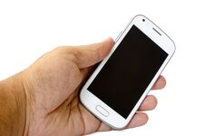 Smart Phone In Hand Stock Photos