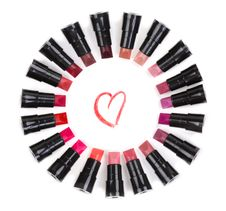 Colored Lipstick Testers Royalty Free Stock Photography