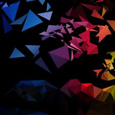 Free Triangular Style Abstract Creative Background Stock Images - 30212654