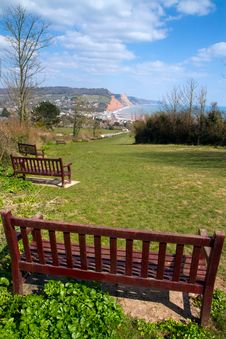 Free Bench Seat Sidmouth Devon England Royalty Free Stock Image - 30212756