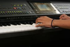 Free Pianist - Motion Royalty Free Stock Image - 30213146