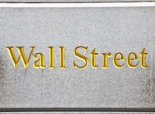Free Wall Street Road Sign Stock Photography - 30215052