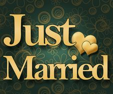 Free Just Married - Green Floral Royalty Free Stock Images - 30215089