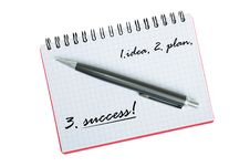Free Notebook And Pen On A White Background Royalty Free Stock Images - 30215459