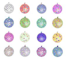 Free Disco Balls Set Stock Image - 30216841