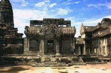 Free Angkor Wat Temple Royalty Free Stock Photo - 30218385