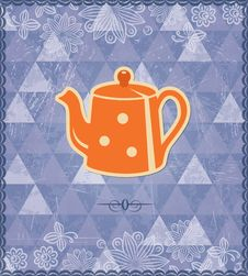 Tea Time Vintage Pattern Royalty Free Stock Photography