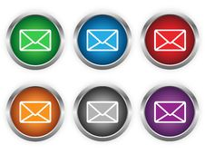 Free E-mail Web Buttons Royalty Free Stock Photo - 30220255