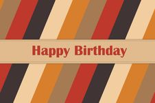 Free Happy Birthday Card Royalty Free Stock Photography - 30220277