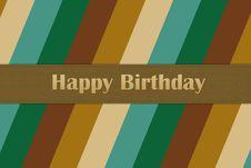 Free Happy Birthday Card Stock Photography - 30220302