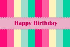 Free Happy Birthday Card Royalty Free Stock Photo - 30220305