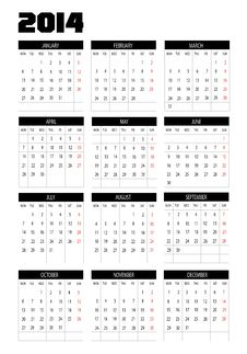 Free Calendar 2014 Royalty Free Stock Images - 30223629