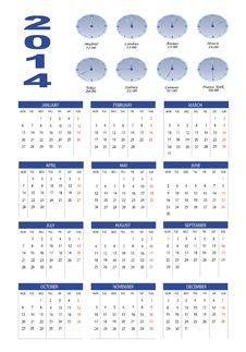 Free Calendar 2014 Royalty Free Stock Photo - 30223645