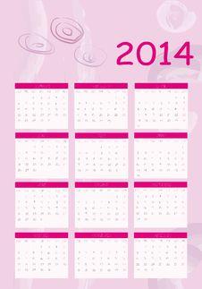 Free Calendar 2014 Stock Photos - 30223653