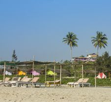 Mandrem Beach In Goa Royalty Free Stock Image