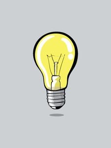 Free Light Bulb On Grey Background Stock Photos - 30224393