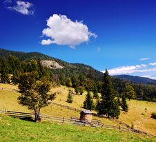 Free Village In The Mountains Royalty Free Stock Photography - 30227387