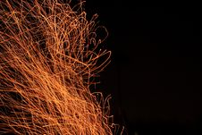 Free Fire Sparks Fly Top Royalty Free Stock Photo - 30229855