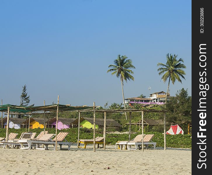 Mandrem Beach In Goa Free Stock Images Photos 30223886