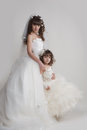 Free The Bride And The Little Girl Royalty Free Stock Images - 30237519