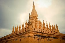 Free Temple In Vientiane &x28;Thad Luang&x29; Royalty Free Stock Images - 30230519