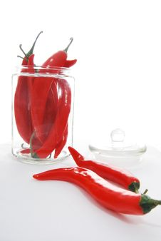 Free Jar Of Chilies Royalty Free Stock Images - 30230749