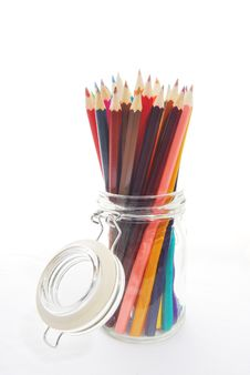 Free Pencils In A Jar Royalty Free Stock Images - 30230759