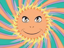 Free Happy Sun Face Royalty Free Stock Photography - 30231087