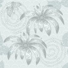 Free Vintage Silvery Seamless Pattern Royalty Free Stock Photos - 30231218