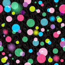 Free Seamless Vivid Pattern With Balls Stock Photo - 30235960