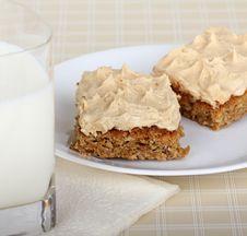 Peanut Butter Bar Treat Royalty Free Stock Image