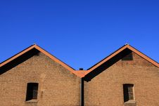 Free Brick Wall With Blue Sky. Royalty Free Stock Photos - 30239788