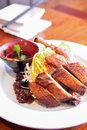 Free Roast Duck With Sauce. Royalty Free Stock Photo - 30242485