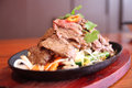 Free Thai Beef Sizzling On Hot Plate Royalty Free Stock Photos - 30242548