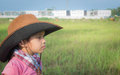 Free A Cowgirl On A Field Stock Photos - 30243803