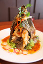 Free Thai Deep Fried Fish Royalty Free Stock Photography - 30243867